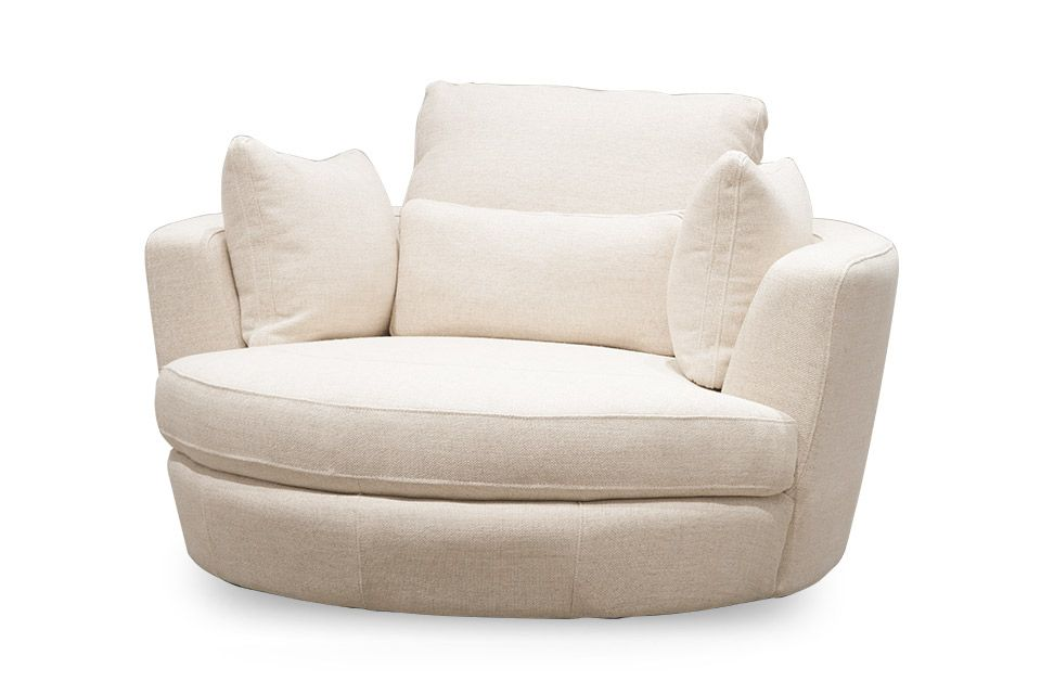 Cuddle Swivel Chair   Orson Almond Fabric