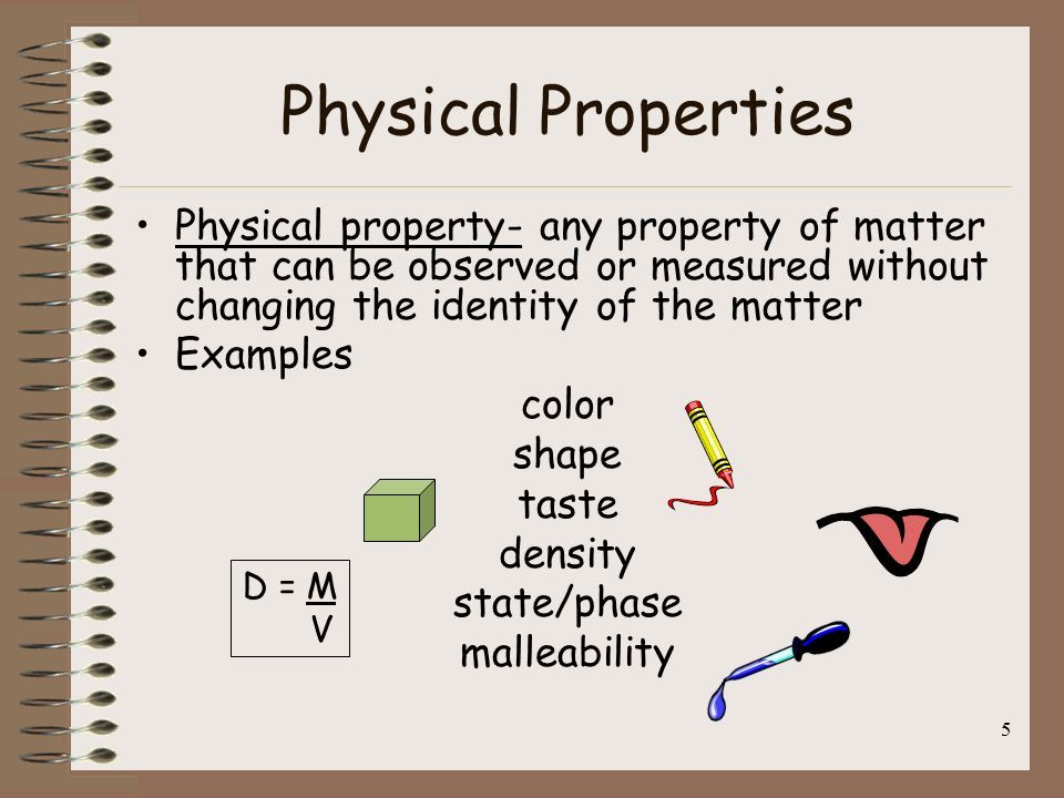 physical properties of matter examples | lessons | pinterest
