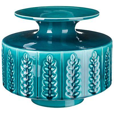 Buy Poole Pottery Abode Sprig Vase, Large, Aqua online at JohnLewis.com - John Lewis