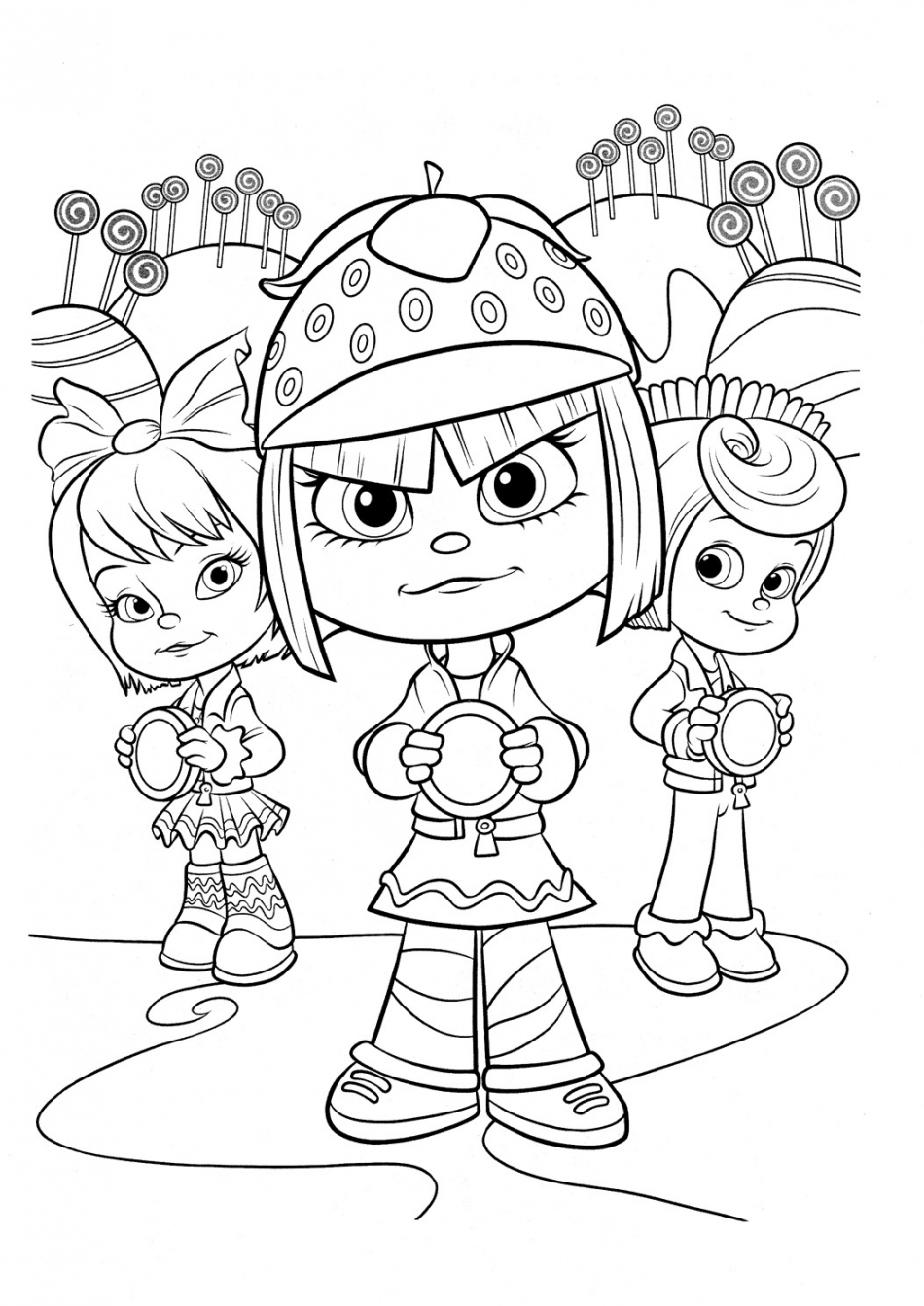 Taffyta Muttonfudge And Friends Coloring In 2020 Disney Princess Coloring Pages Disney Coloring Pages Cool Coloring Pages