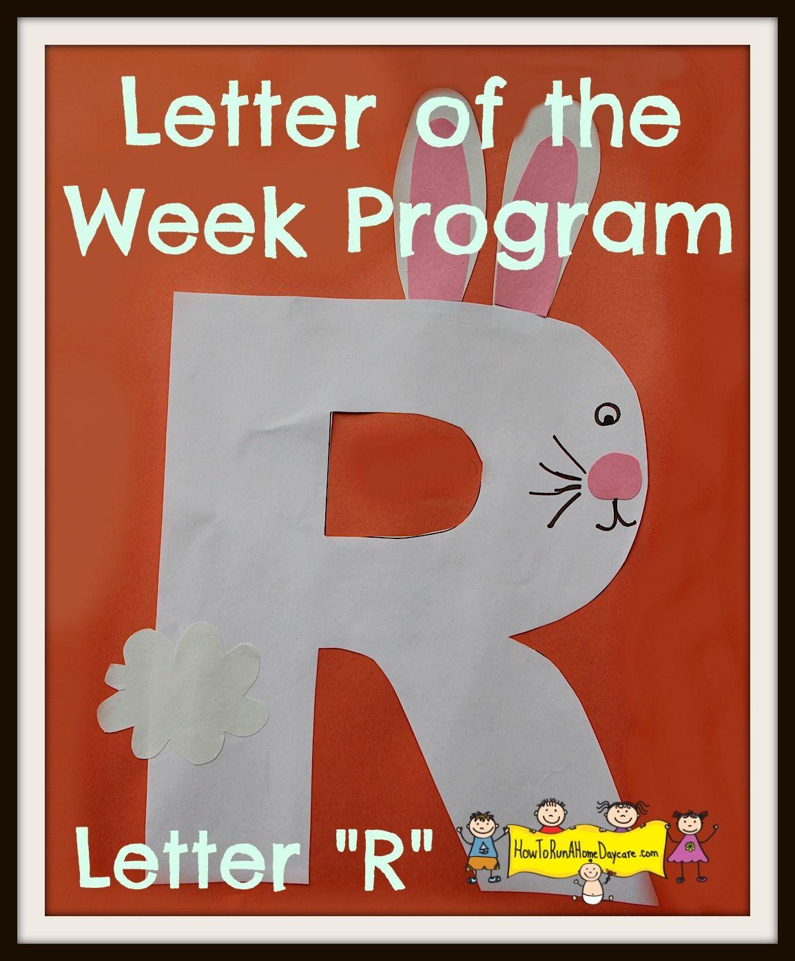Letter R Letter Of The Week Program