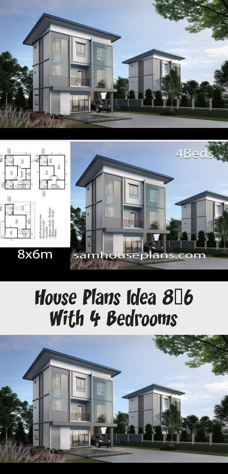 House Plans Idea 8x6 With 4 Bedrooms Sam House Plans Floorplans4bedroommediterranean Homefloorplans4bedroom Floorpl In 2020 House Plans Floor Plan 4 Bedroom House