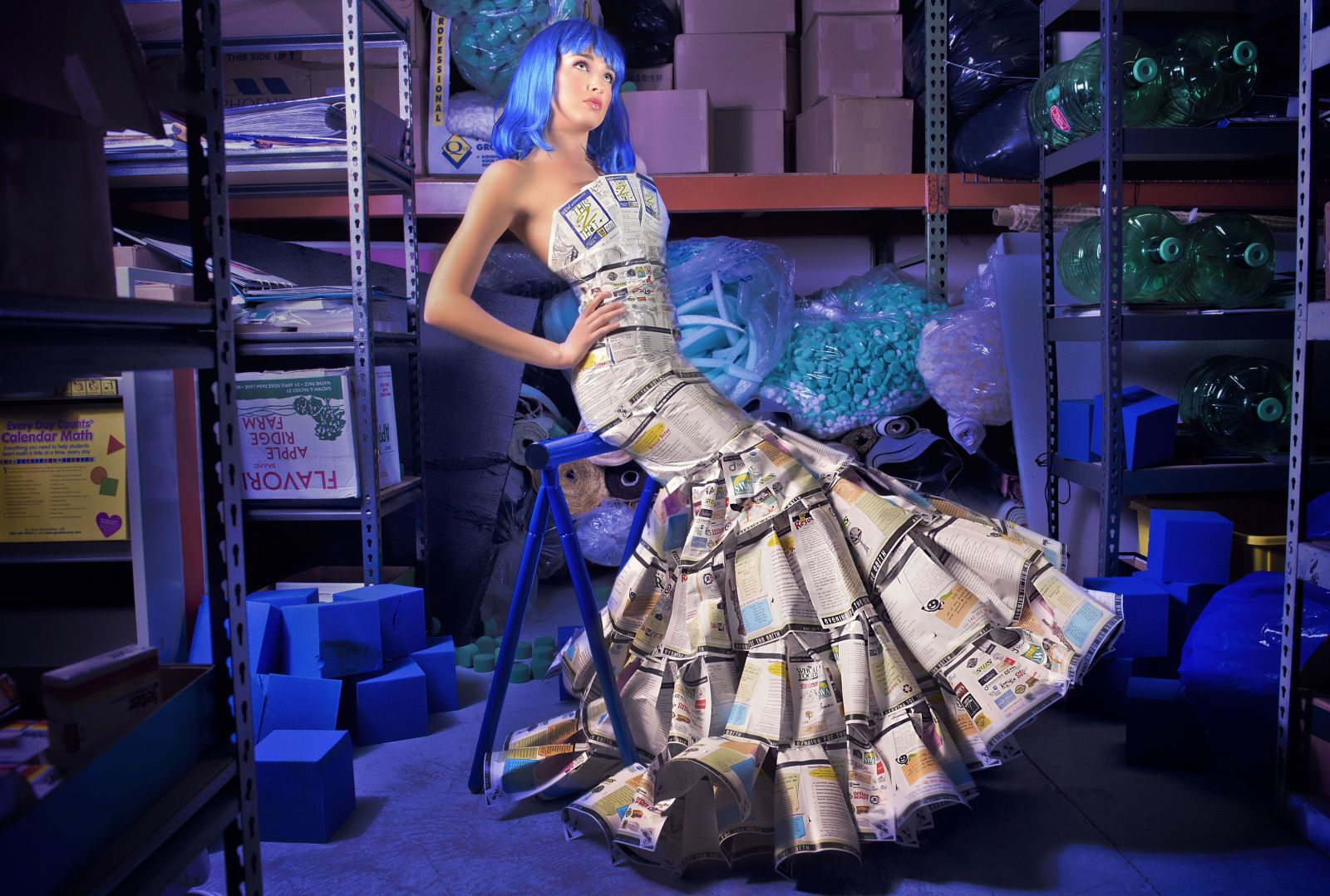 Someone Is Making Clothes Out Of Actual Garbage Head Turning Dress Fashion How To Make Clothes