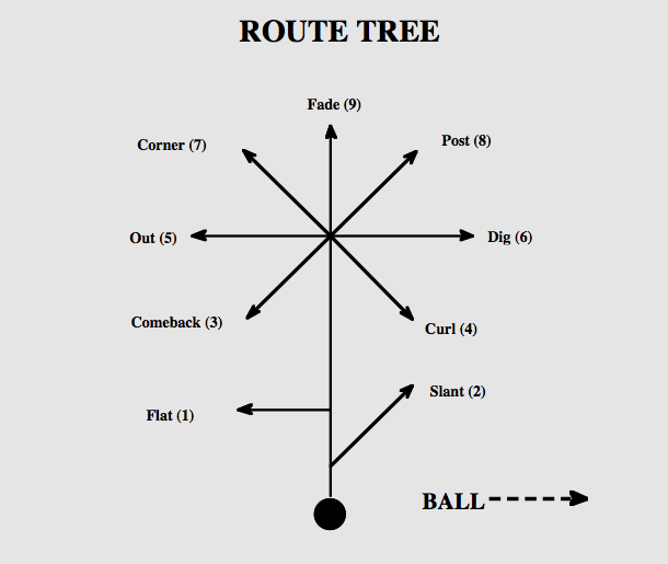Nfl 101 Breaking Down The Basics Of The Route Tree