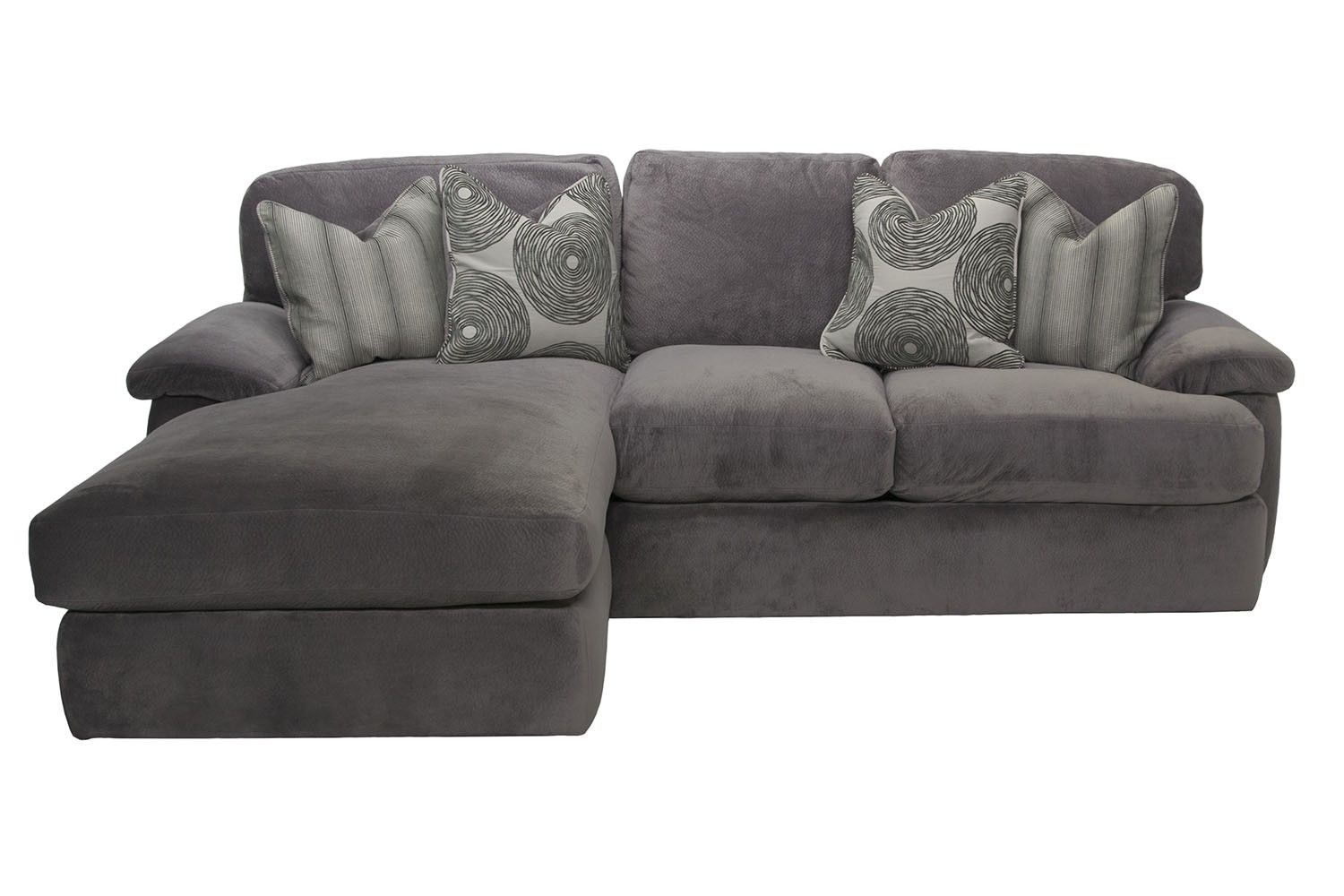 Mor Furniture For Less: Key West Right Facing Loveseat Sectional In Gray |  Mor