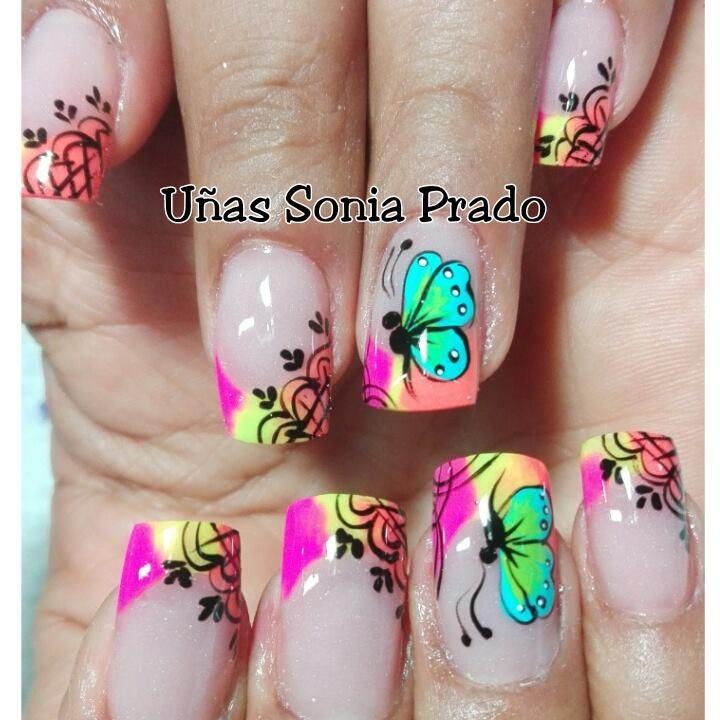 Pin de Adriana en uñas | Pinterest | Diseños de uñas, Arte de uñas y ...