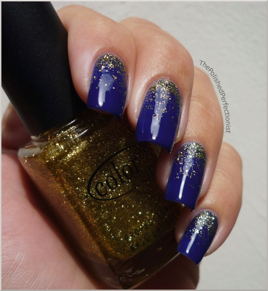 Royal blue and gold nails Perfect for Sat nights in Cowboy Stadium ...