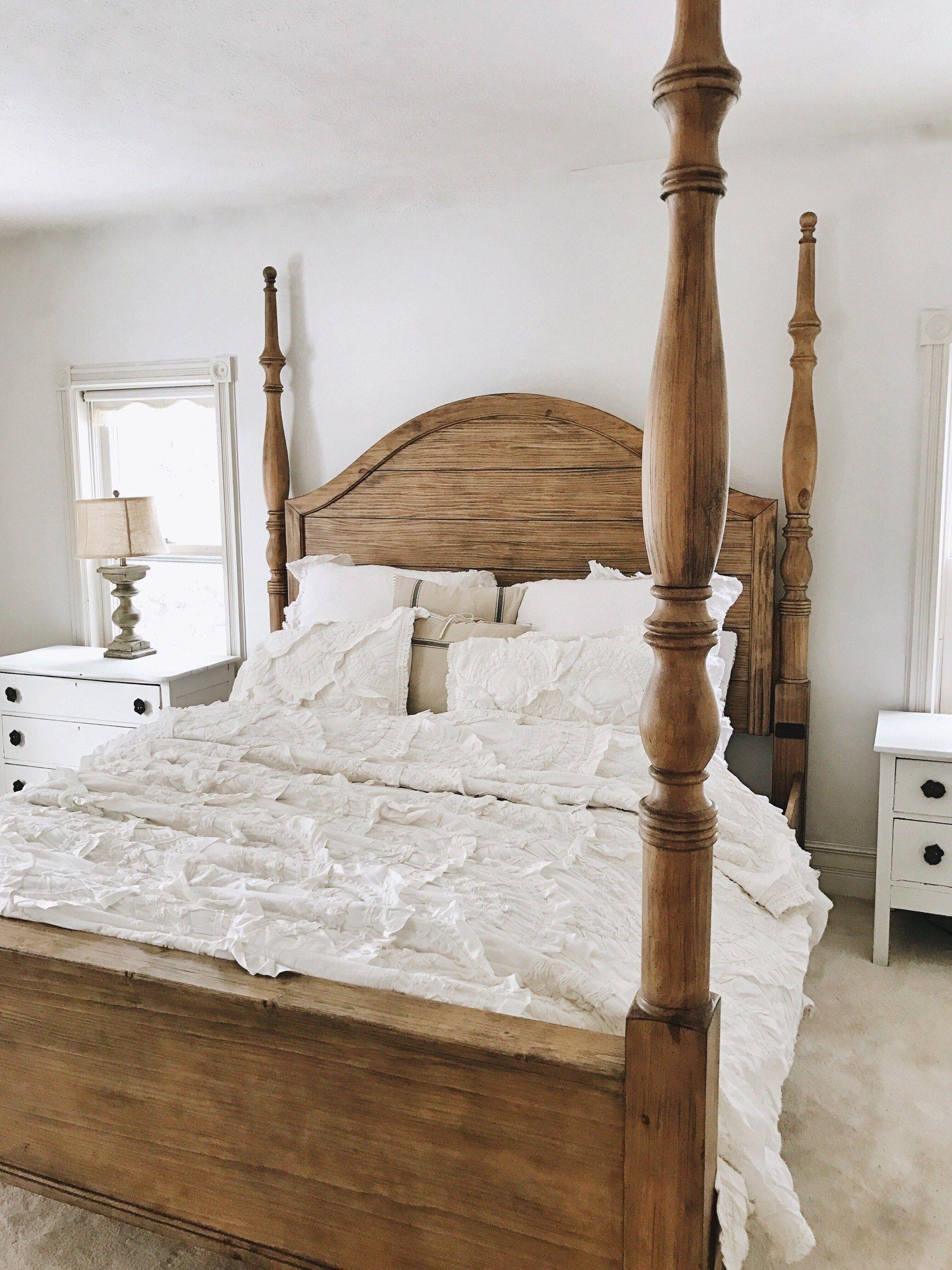 Master Bedroom Makeover Magnolia Bed Dormitorios Principales