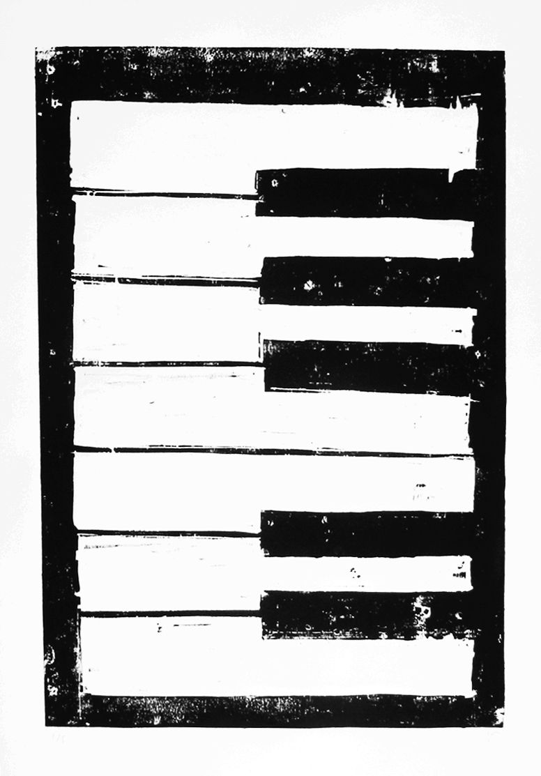 piano 2015 woodcut on paper print 50 x 70 woodcuts pinterest