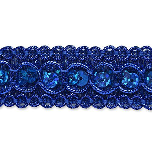 Expo International Trish Sequin Metallic Braid Trim Embellishment 20Yard Royal Blue * Read more  at the image link.