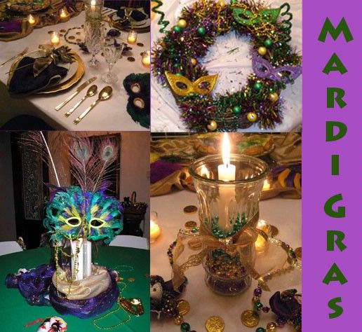 Mardi Gras Wedding Ideas: Table Decor ---- Must Do When We Move To New Orleans