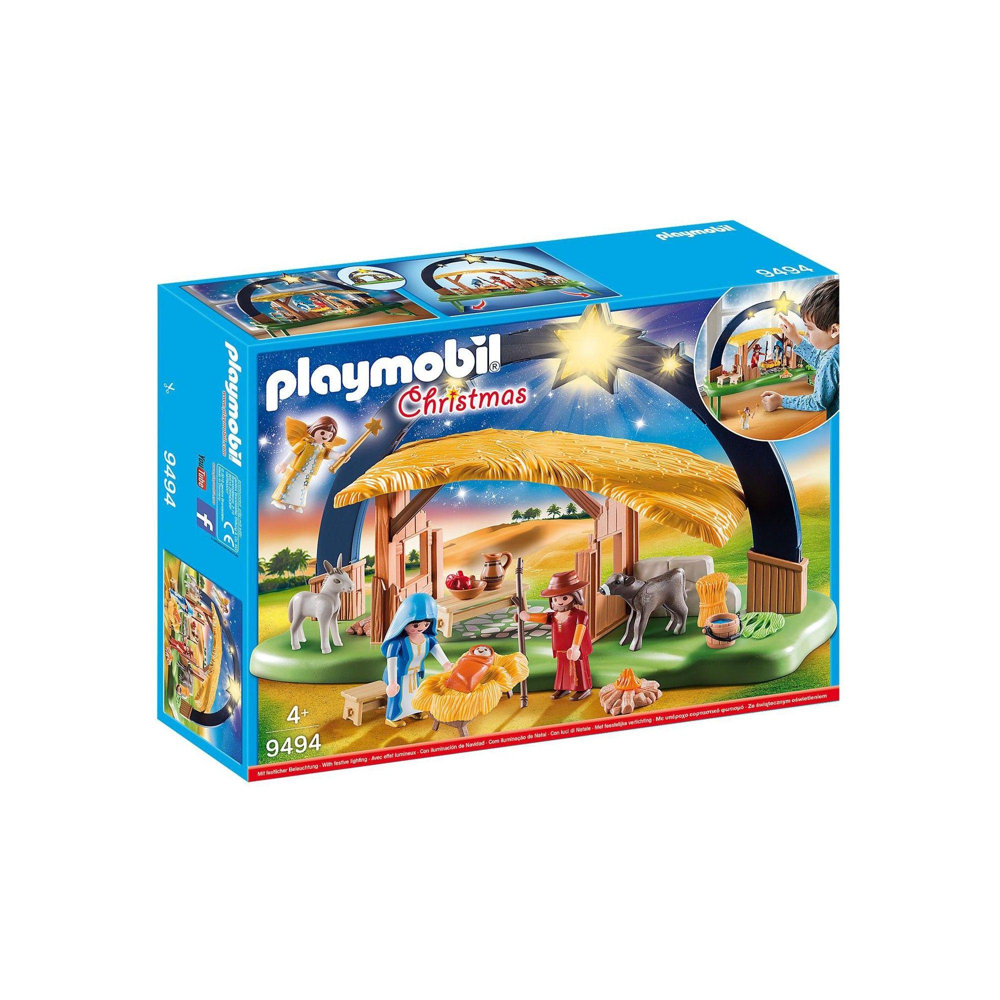 Playmobil Christmas Illuminating Nativity Manger Set 9494 Nativity Playmobil Christmas