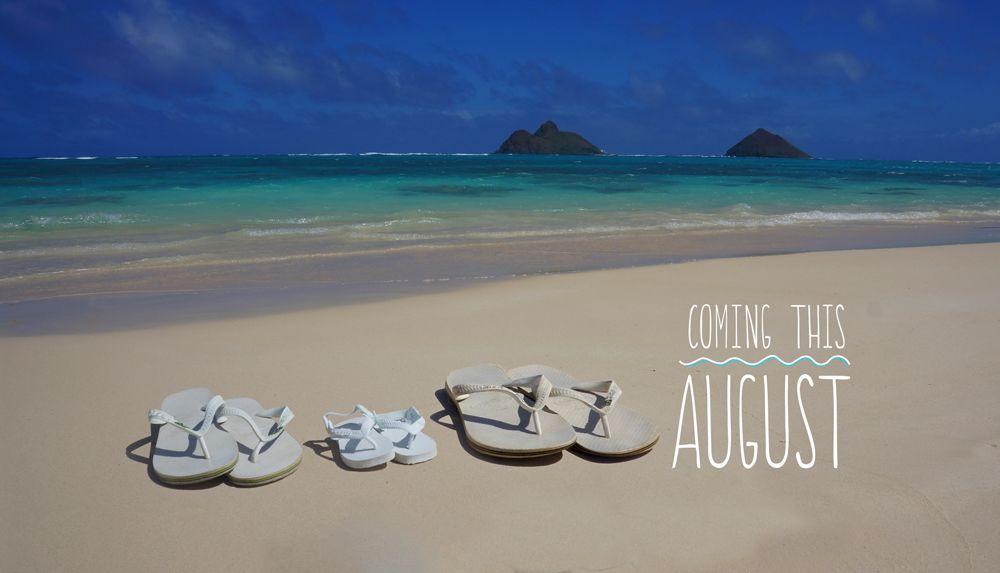 Our pregnancy announcement expecting a beach baby with – Expecting Baby Announcement