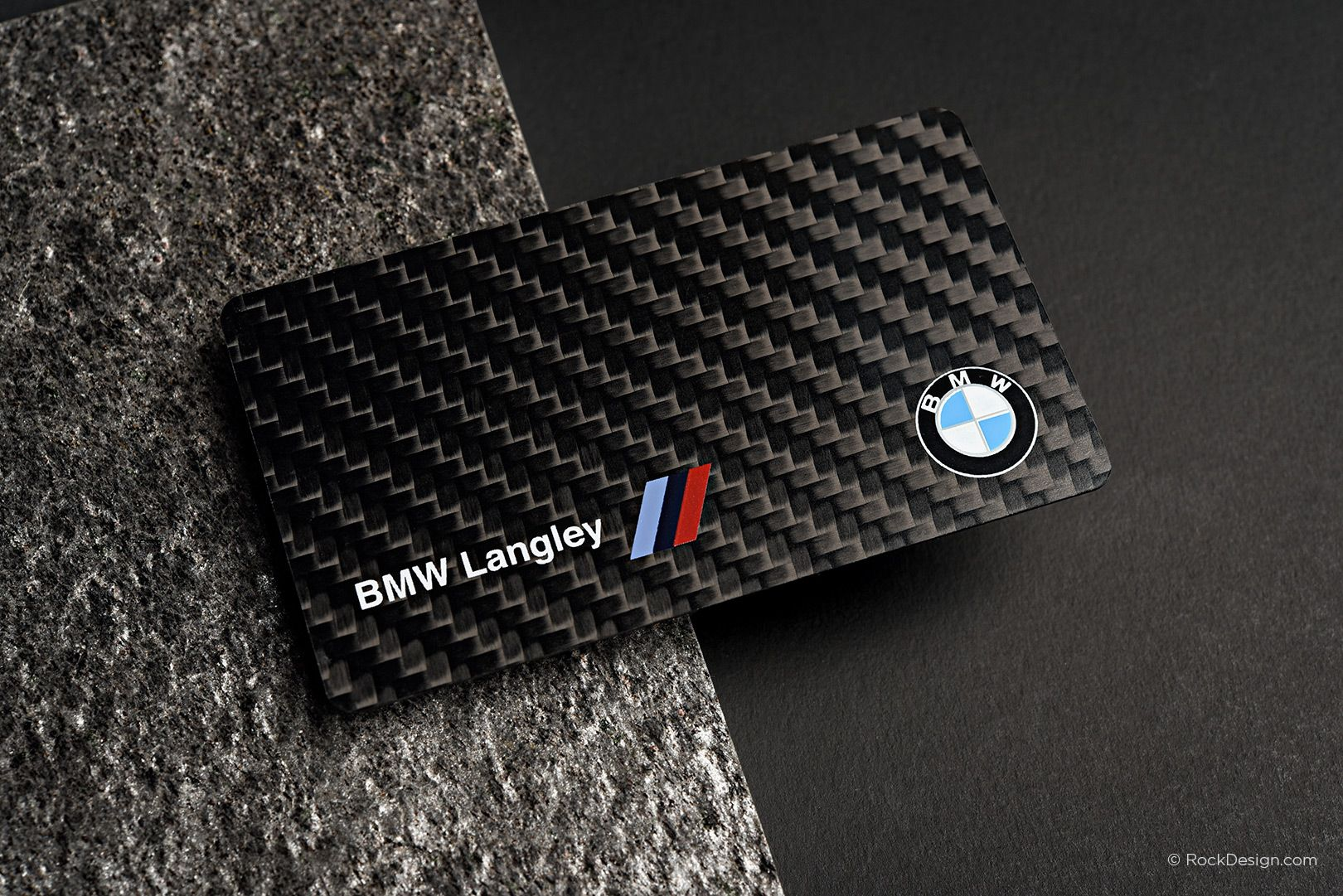 Magnificent business cards langley contemporary business card carbon fiber business cards rockdesign luxury business card reheart Choice Image
