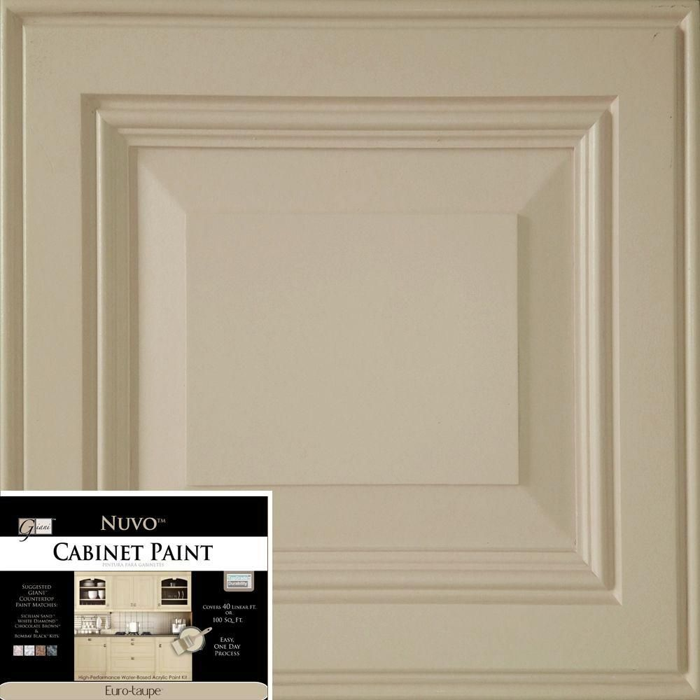 NuVo 2 qt. Euro-Taupe Cabinet Paint Kit | Euro, Paint finishes and ...