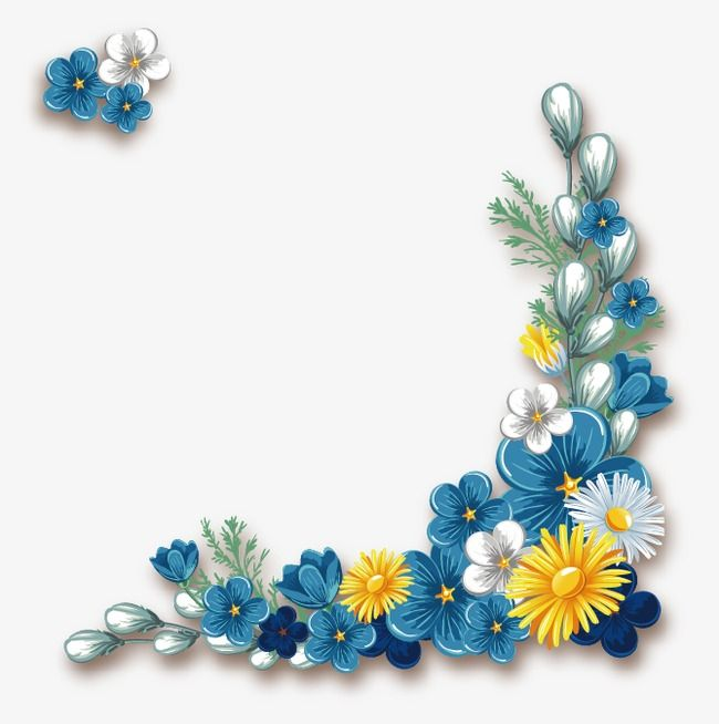 Flower Border Flower Frame Flower Vector Png Transparent Clipart Image And Psd File For Free Download Flower Border Floral Border Design Flower Drawing
