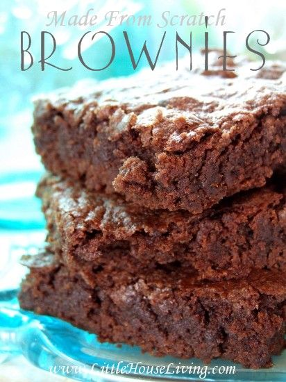 how to make chewy brownies from scratch