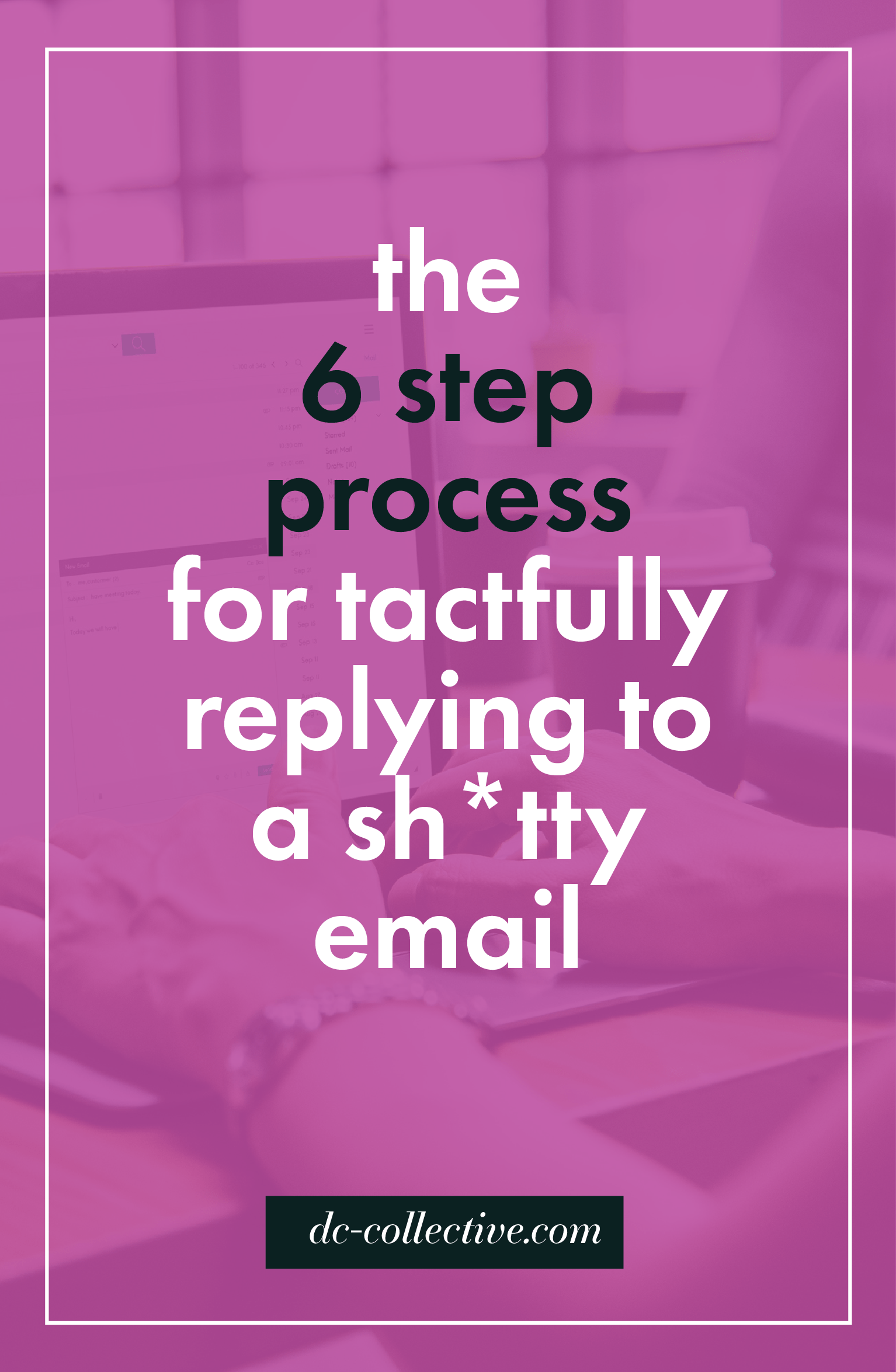 Career Advice The 6 step process for tactfully replying