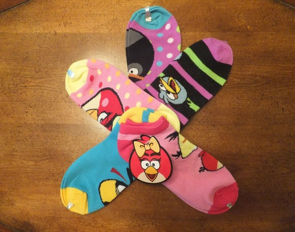 NEW Womens ANGRY BIRDS Ankle Socks Set of 5 Angry Birds Low Rise Socks  #AngryBirds #Ankle