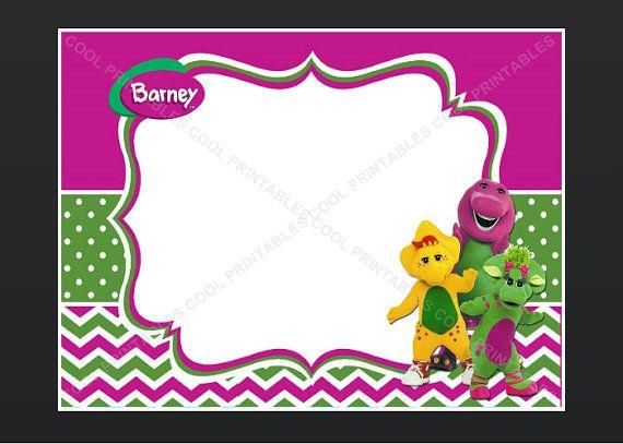Barney blank invitation birthday thank you note diaper raffle card barney blank invitation birthday thank you note diaper raffle card editable pdf instant download 1 bookmarktalkfo Gallery
