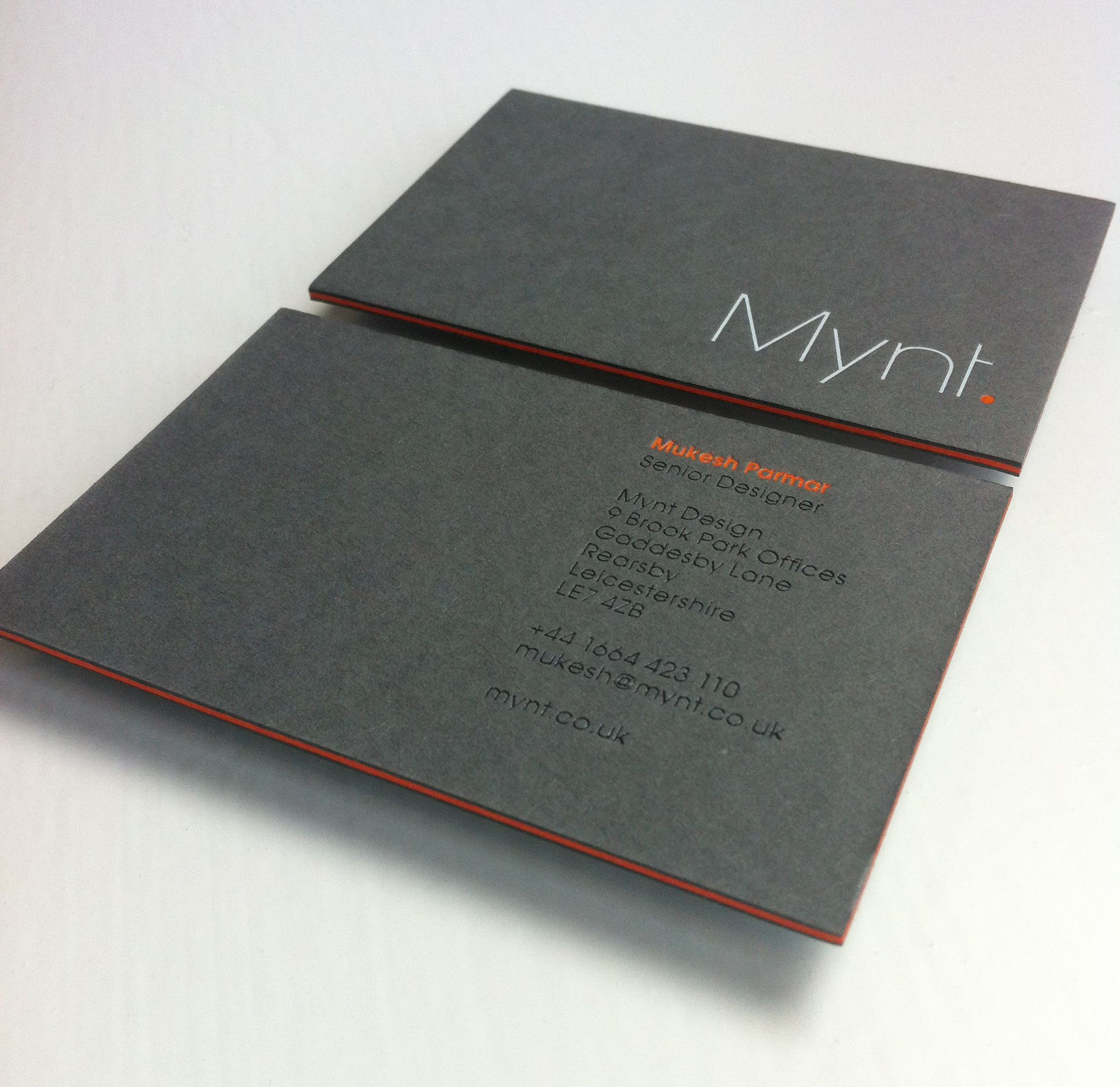 Mynt Design / Business card / GFSmith Papers / Triplex / 1240gsm ...