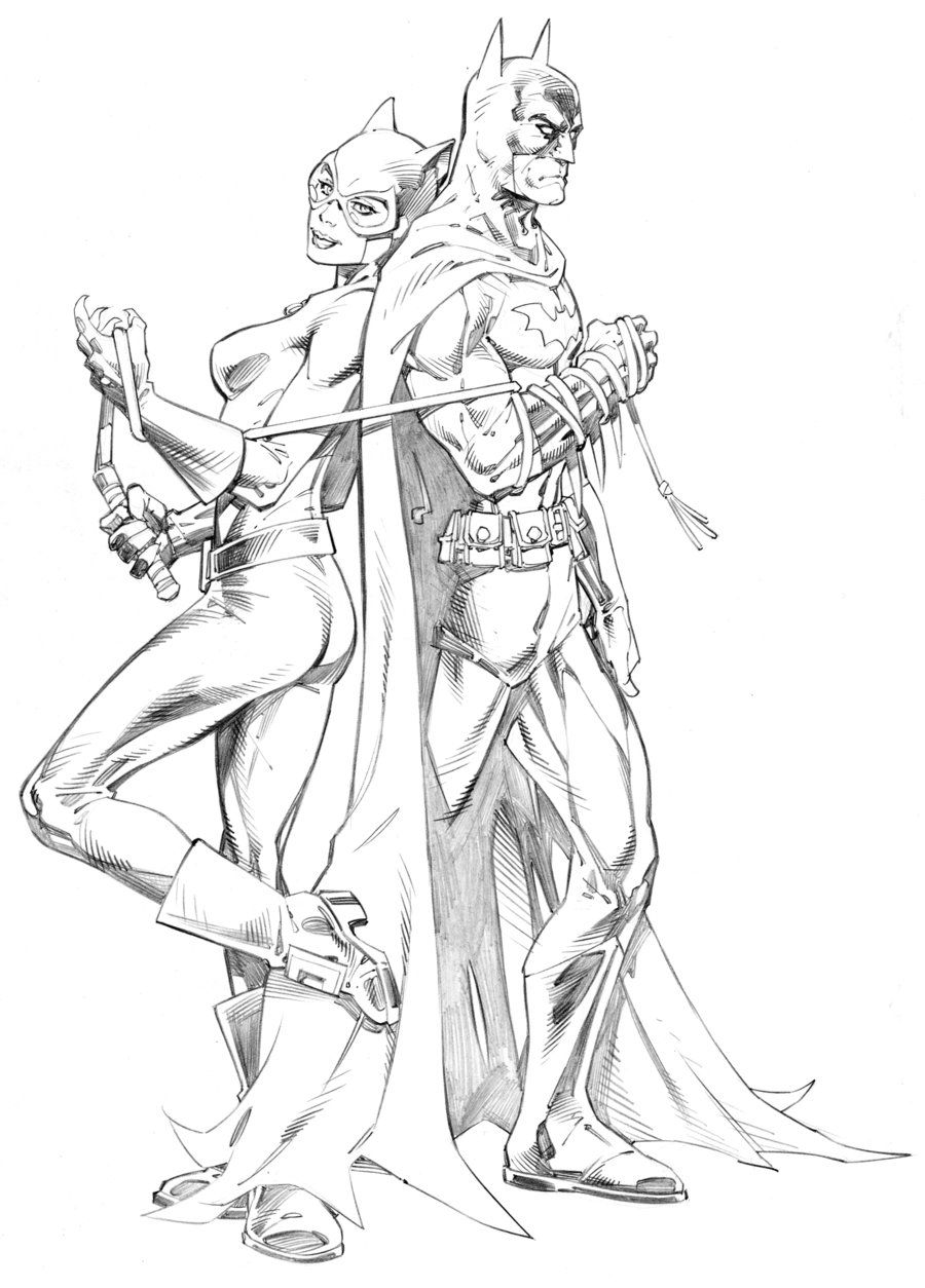 batman and catwoman by randygreen deviantart com on deviantart
