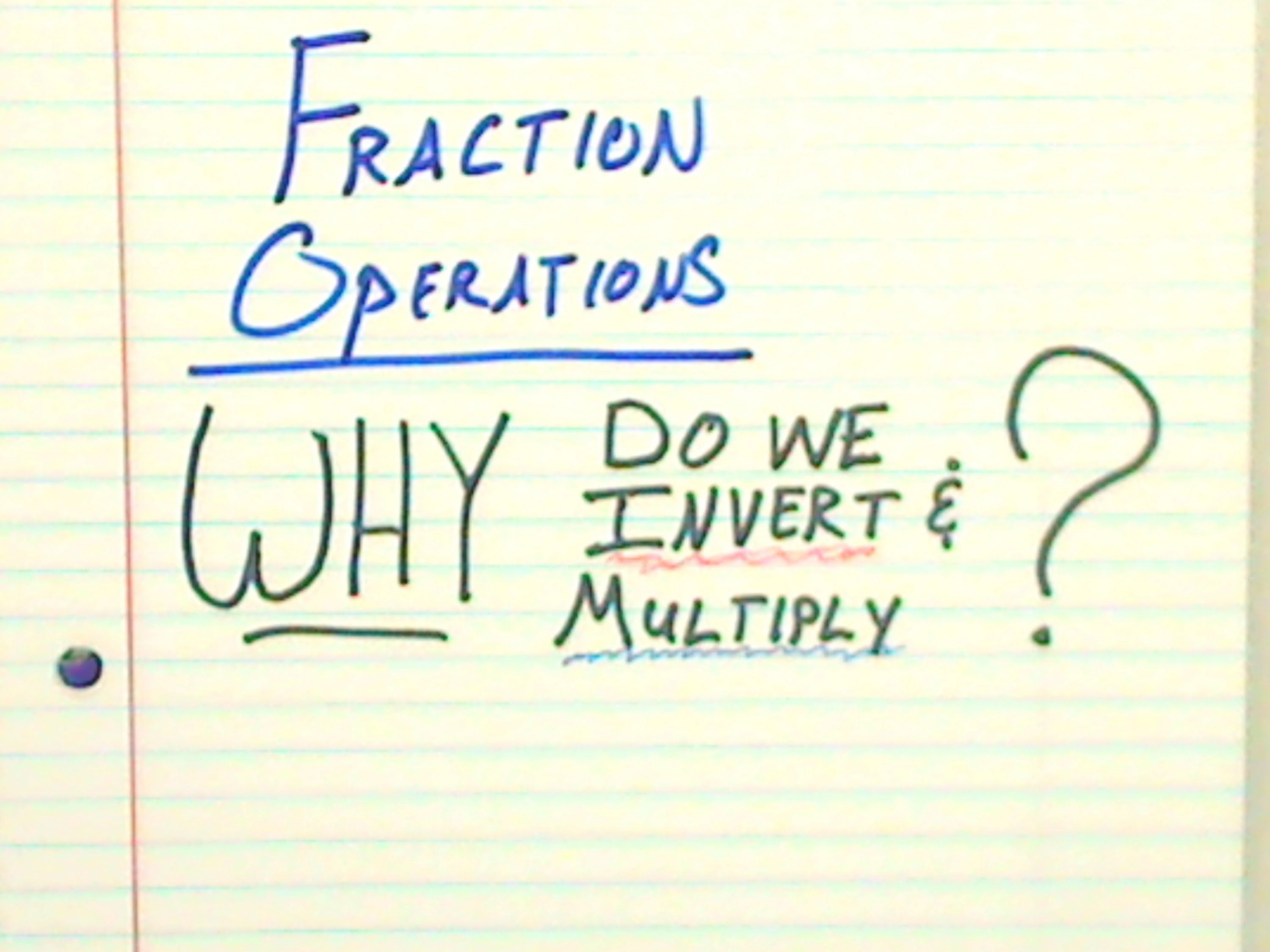 Why Do We Multiply By The Inverse To Divide Fractions