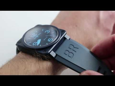 Bell Amp Ross Br03 92 Blue Ceramic Luxury Watch Review Youtube