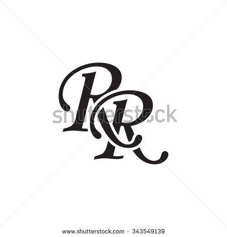 Initial Rr Stock Vectors Vector Clip Art Logo Design Monogram Logo R Letter Design