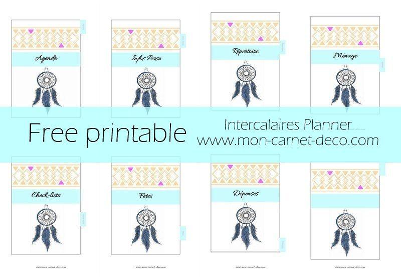 Magazine Et Blog Deco Mon Carnet Deco Planificateur Imprimable Gratuit Imprimable Intercalaire