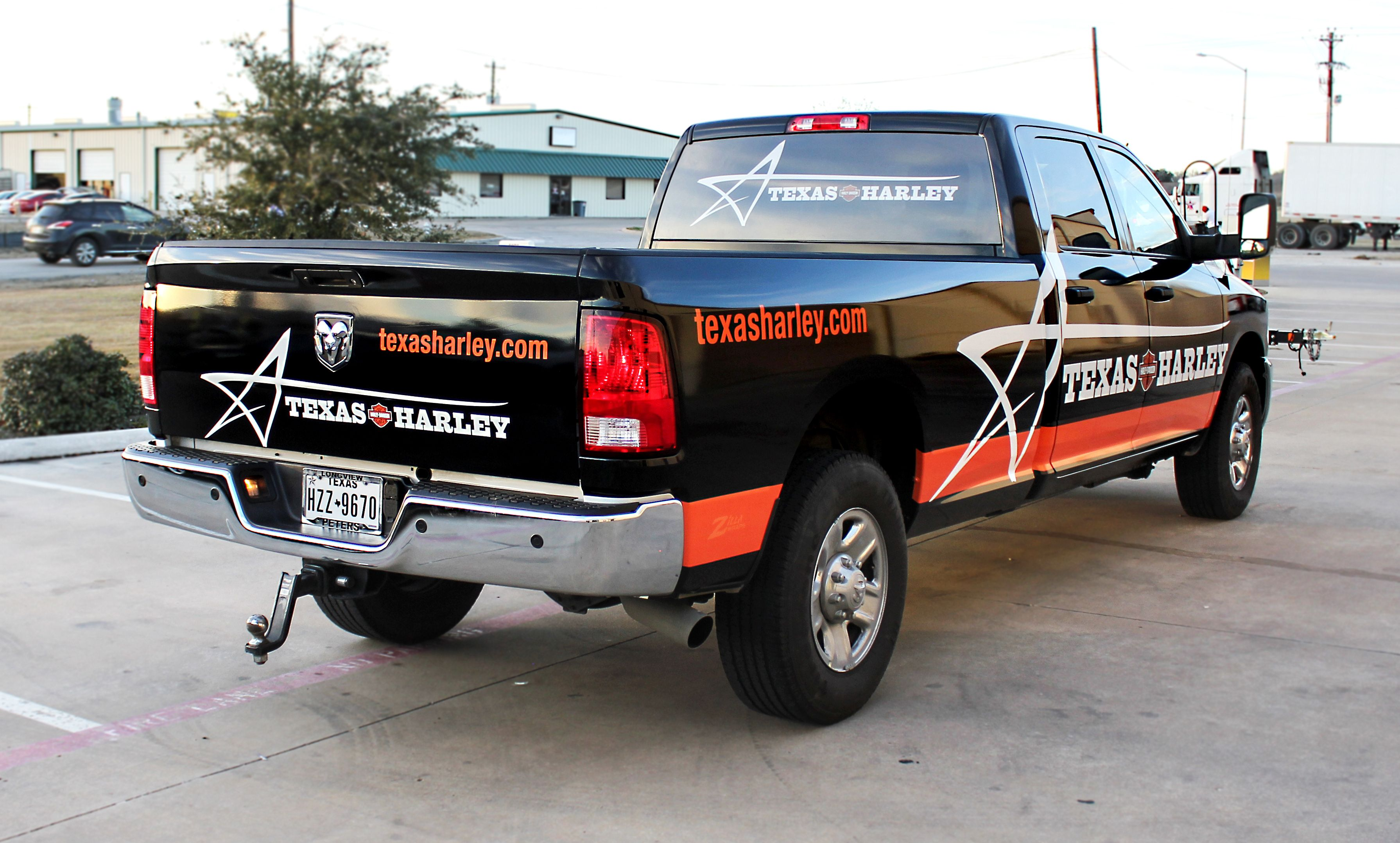 Full Truck Wrap for Adam Smith s Texas Harley in Bedford