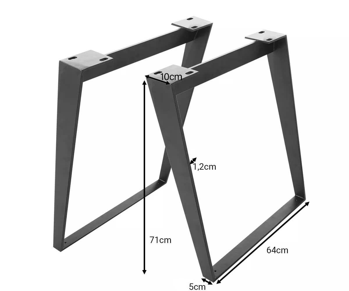 Tischbeine Live Edge Baumtisch 7 5x1 2 Cm Metall Schwarz Schrag 2er Set In 2020 Tischbeine Baumtisch Und Tisch