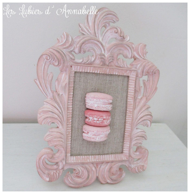 Cadre Shabby Chic de macarons en plâtre à poser | gesso perfumado ...