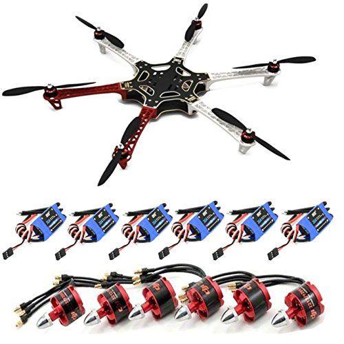 DJI F550 ATF Hexacopter kit Frame Kit & DJI 920KV Brushless Motor &DYS Simonk 30A ESC&1045Propeller &F450/F550 Landing gear