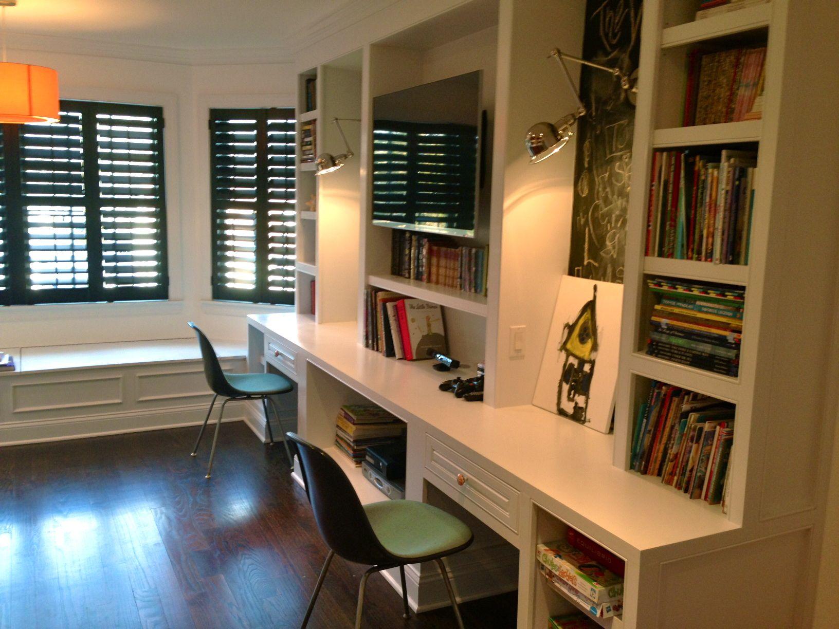 Built In Desks In A Playroom By Christina Kim Interior Design