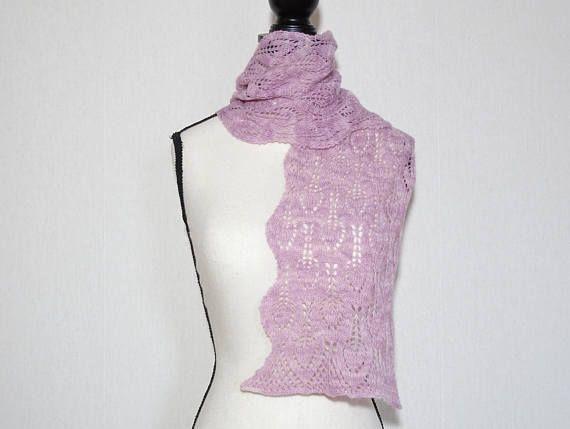 Echarpe femme tricotée main écharpe rose écharpe rose en   Pink ... 02f5a9512b8
