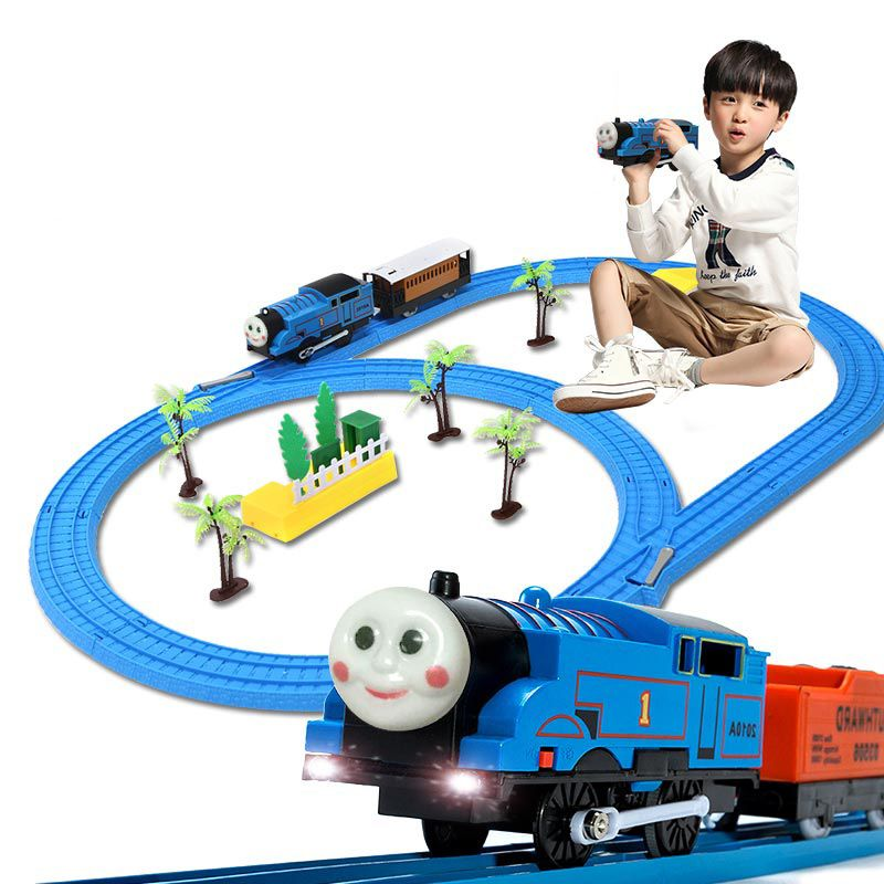 Click To Buy Thomas Train Set Rail Car Electric Sound Light Train Toys Children Puzzle Boys 3 9 Years Old Affiliate Rail Car Thomas The Train Toy Train