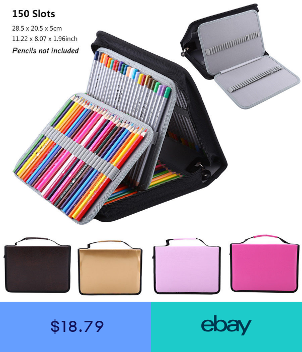 150 Slots Colored Pencil Case Stationery Pencilcase Drawing Painting Storage Sg Pencil Case Stationery Colored Pencil Case Colored Pencil Storage