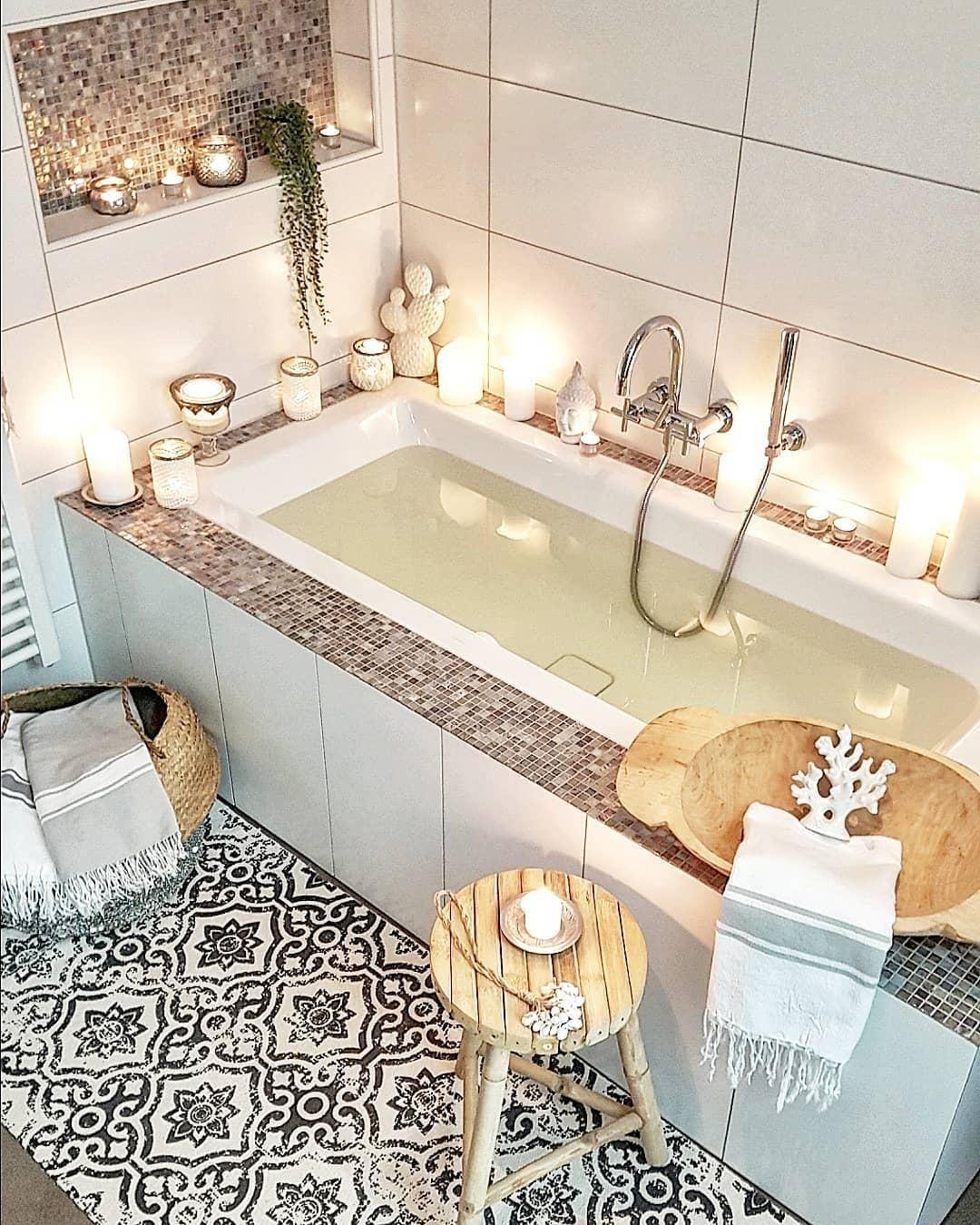 Home Spa Relaxen Im Eigenen Bad In Einem Behaglichen Wohlfuhlbadezimmer Lasst Es Sich Wunderbar Entspannen Und In 2020 Badezimmer Dekor Luxus Badezimmer Bad Styling