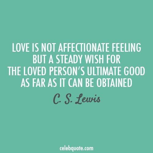 C. S. Lewis quote.