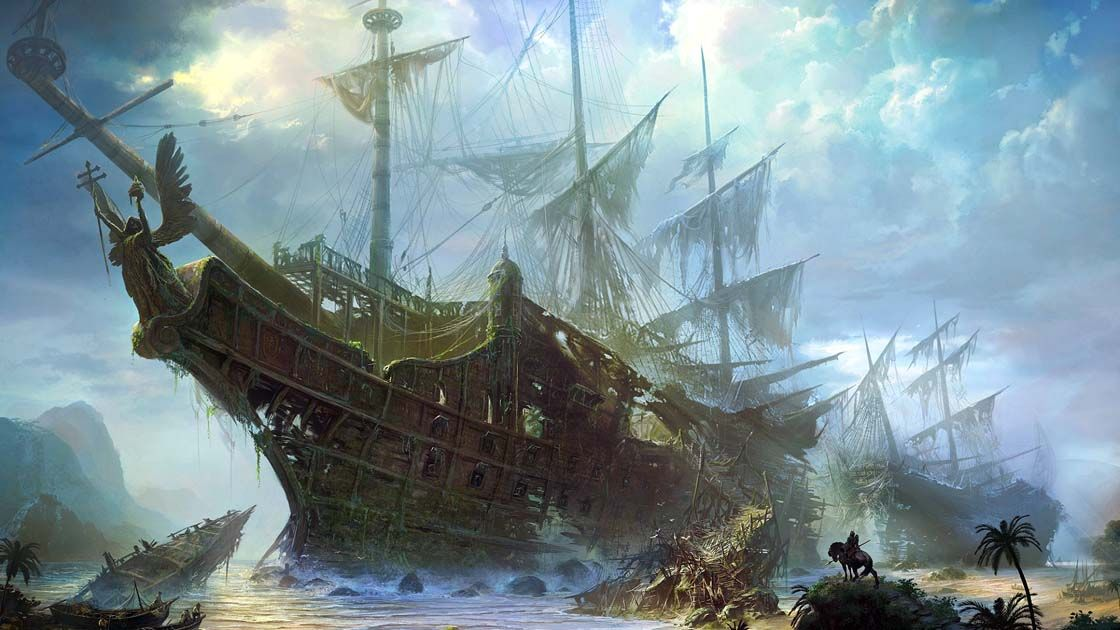 Image result for ghostship fantasy art