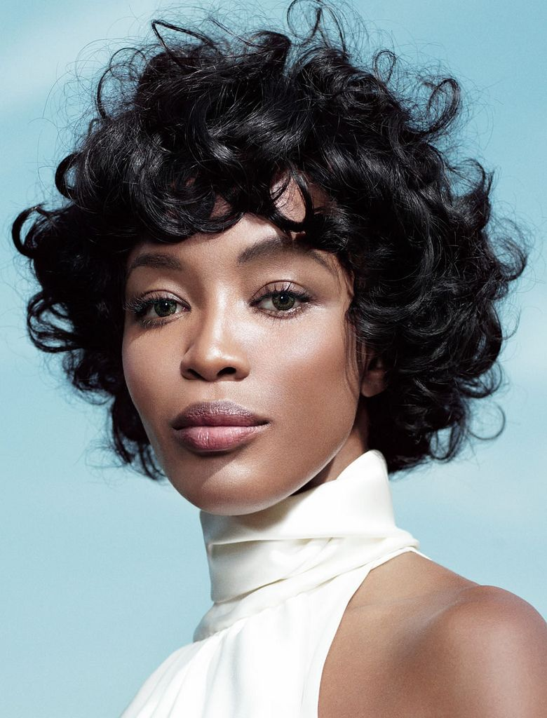 natural curly short hairstyle for african american women in