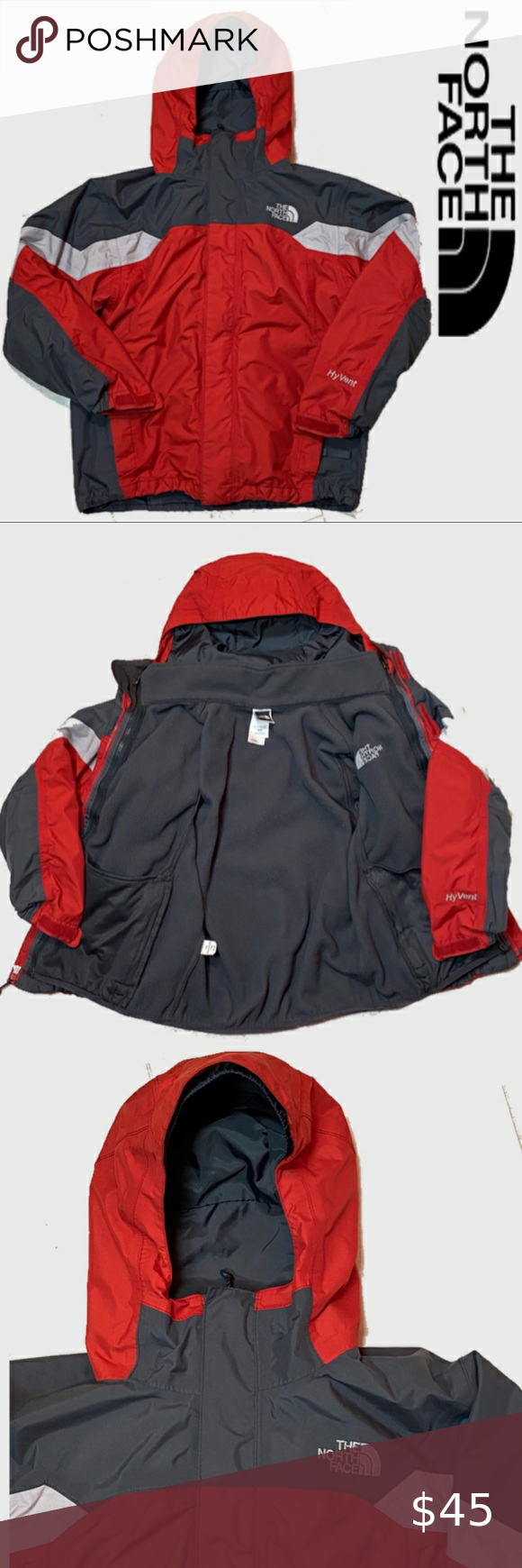 The North Face Hyvent Boys 2 In 1 Rain Jacket North Face Hyvent North Face Jacket Rain Jacket [ 1740 x 580 Pixel ]