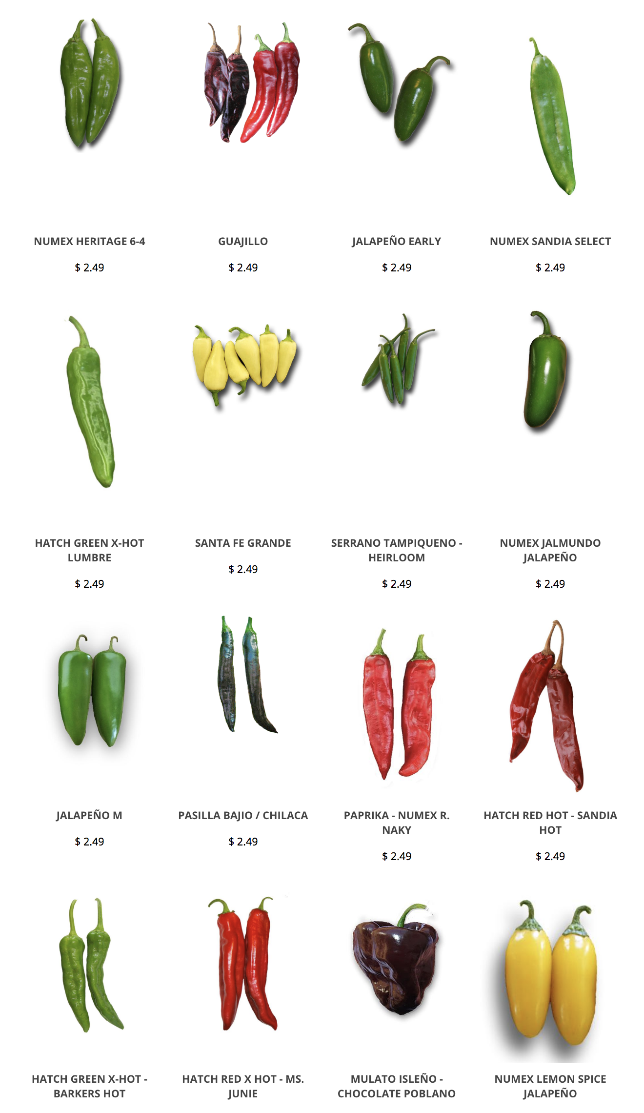 Check Out All Our Chile Pepper Seed Varieties We Have Lots Of New