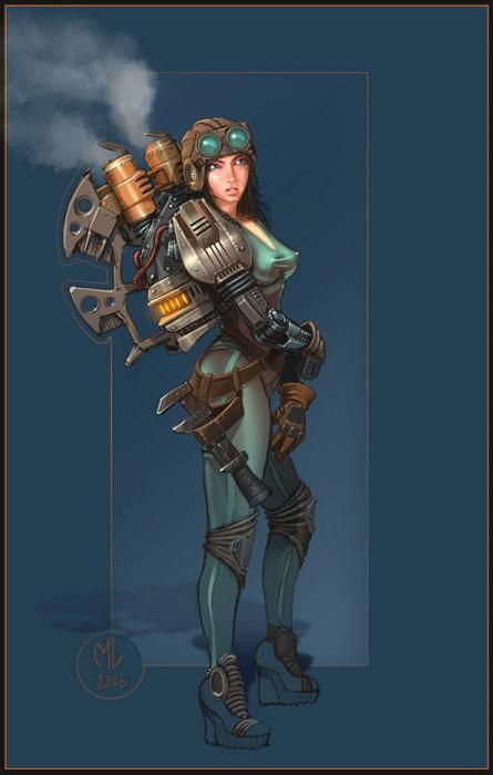Steampunk Jet Girl