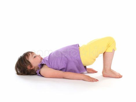 bridge pose  kids yoga poses yoga for kids toddler yoga