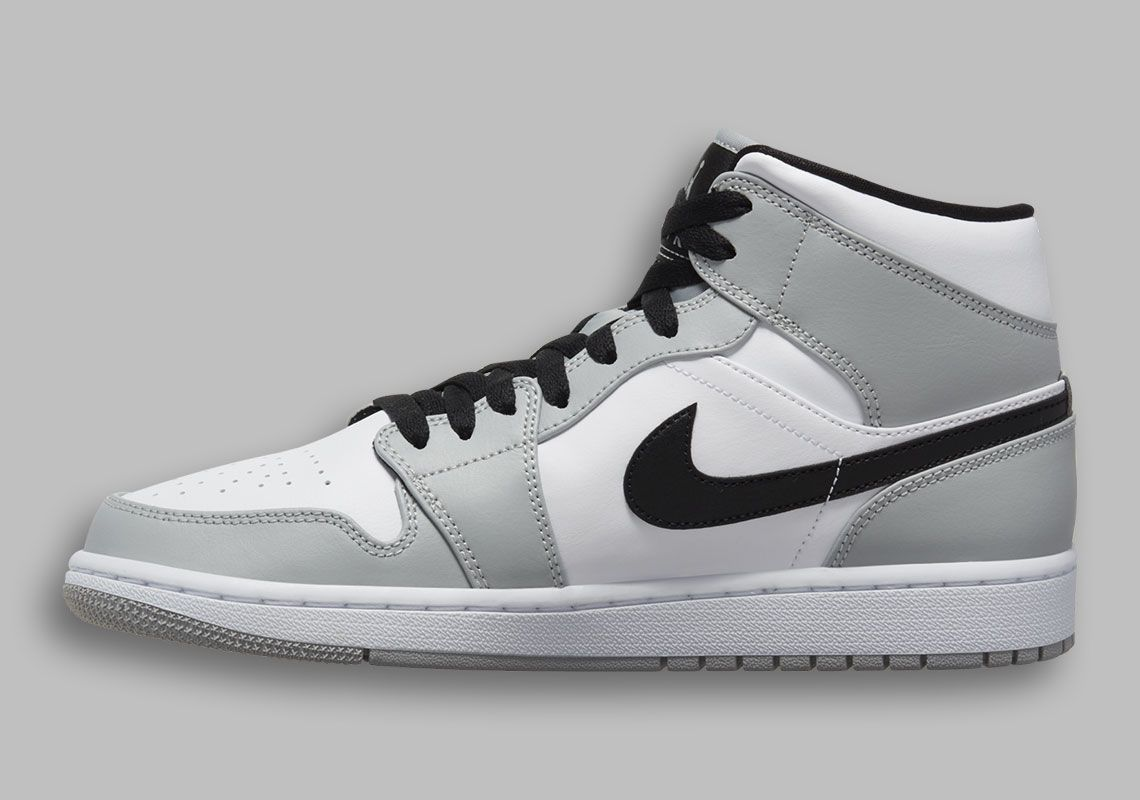 Air Jordan 1 Mid Light Smoke Grey 554724-092 Release Info ...