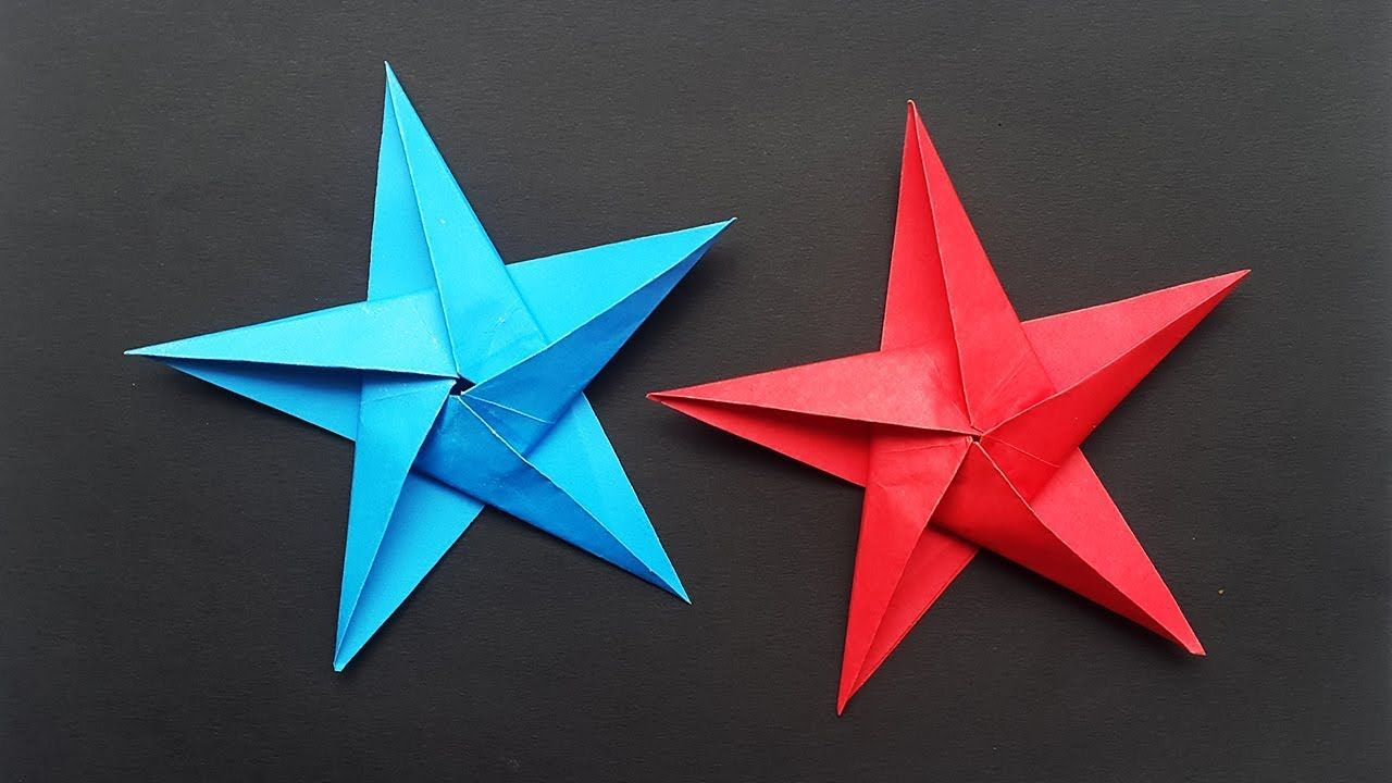 Fabric Origami Christmas Star Ornaments | Ashlee Marie - real fun ... | 720x1280
