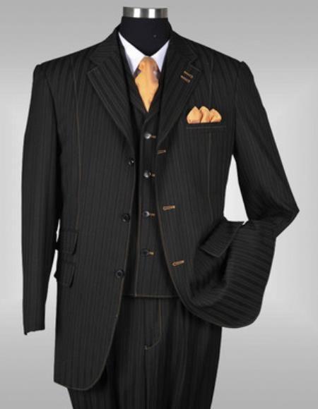 03dc7563aa Men s 3 Piece Elegant Black Suit. We have collection of Mens suit with  unique design