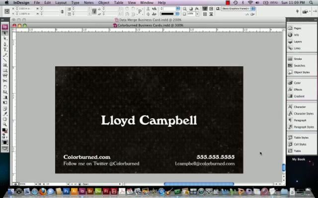 how to create place cards in indesign